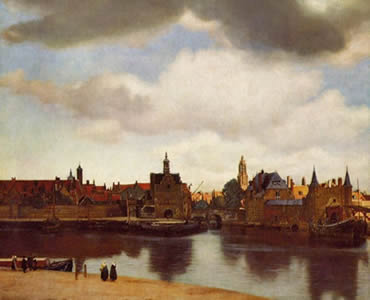 "Dutch painter Jan Vermeer painted the town of Delft, Holland where he lived for his entire life (1632-1675). Above the town, he painted <a href=""/earth/Atmosphere/clouds/stratocumulus.html&edu=high"">stratocumulus clouds</a> in the sky. Stratocumulus clouds usually produce only light precipitation, in the 