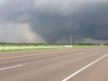 "On May 20, 2013, a massive EF5 <a href=""http://www.windows2universe.org/earth/Atmosphere/tornado.html"">tornado</a> hit Moore, Oklahoma, devastating communities and lives.  The tornado, on the ground for 40 minutes, took a path through a subdivision of homes, destroying block after block of homes, and hitting two elementary schools just as school was ending as well as a hospital. Hundreds of people were injured, and 24 were killed.<p><small><em>Image courtesy of Ks0stm, Creative Commons Attribution-Share Alike 3.0 Unported license</em></small></p>"