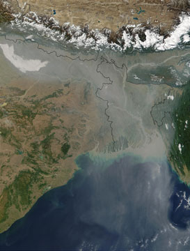 Aerosol pollution over India