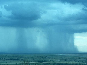 Cumulonimbus rain shaft