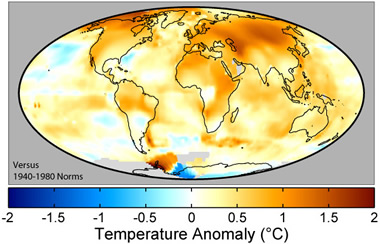 earth surface temp