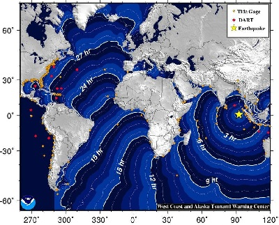 "An <a href=""http://earthquake.usgs.gov/earthquakes/recenteqsww/Quakes/usc000905e.php"">8.6 magnitude earthquake</a> struck on 11 April 2012 off of Banda Aceh, Sumatra, Indonesia, followed by a strong aftershock.  Earthquake motion was primarily horizontal.  A tsunami warning was issued for the Indian Ocean, but was cancelled at 12:36 UTC.  A tsunami was observed at 1 meter or less. Find out more about <a href=""/earth/geology/quake_1.html"">earthquake</a> and <a href=""/earth/tsunami1.html"">tsunami</a> processes. Check out the resources <a href=""/teacher_resources/2011_AGU-NESTA_GIFT_Workshop.html"">here</a>.<p><small><em>NOAA</em></small></p>"