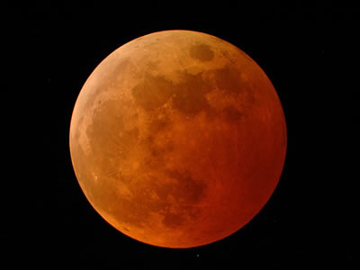 "Lunar eclipses are special events that only occur when certain conditions are met. First of all, the Moon must be in <a href=""/the_universe/uts/moon3.html"">full phase</a>. Secondly, the <a href=""/sun/sun.html"">Sun</a>, <a href=""/earth/earth.html"">Earth</a> and <a href=""/earth/moons_and_rings.html"">Moon</a> must be in a perfectly straight line. If both of these are met, then the Earth's shadow can block the Sun's light from hitting the Moon.  The reddish glow of the Moon is caused by light from the Earth's limb scattering toward the Moon, which is reflected back to us from the Moon's surface.<p><small><em>Image credit - Doug Murray, Palm Beach Gardens, Florida</em></small></p>"