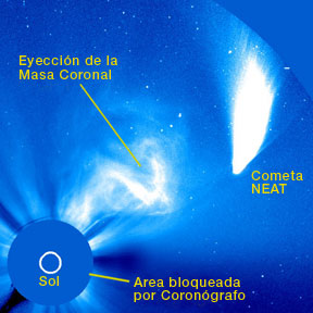 CME hits Comet NEAT