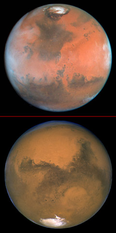 Image result for mars polar ice caps