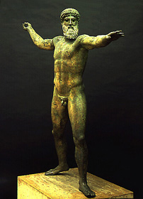 Poseidon greek sea god windows to the universe - Poseidon statue greece ...