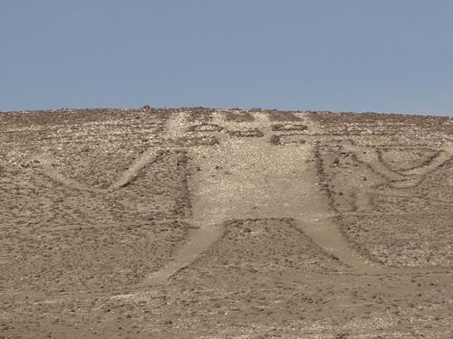 埴輪のようなナスカの地上絵