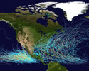 Hurricanes and Climate - Hurricane Map