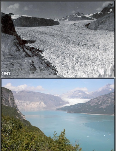 Glaciers: Then and Now - Worksheet PDF