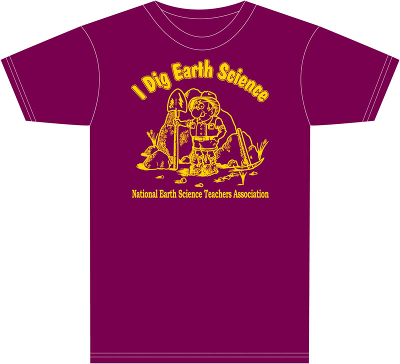 """I Dig Earth Science"" NESTA T-shirt"