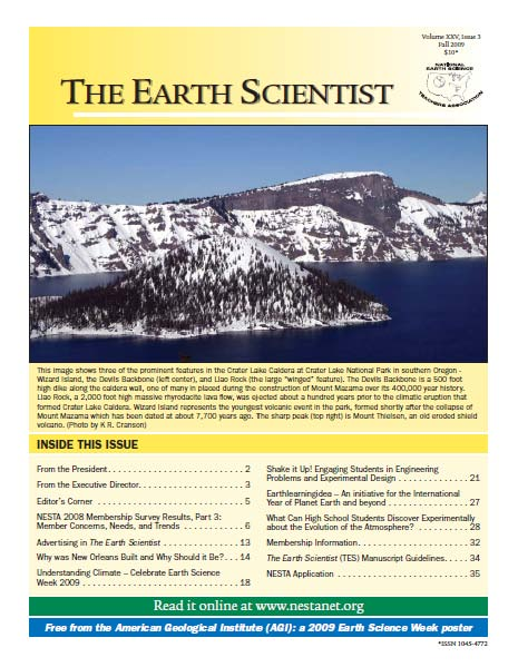 The Earth Scientist, Volume XXV, Issue 3, Fall 2009