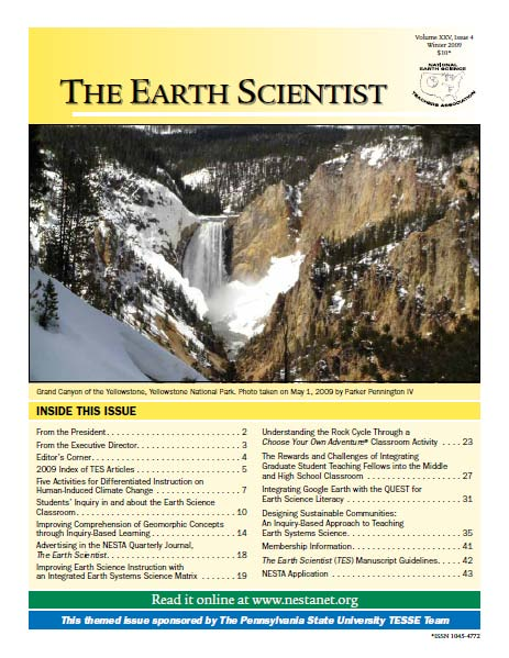 The Earth Scientist, Volume XXV, Issue 4, Winter 2009