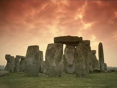 "There are over 900 <a href=""/the_universe/uts/megalith.html"">rings of stone</a> located in the British Isles. The most famous of these stone rings is of course, <a href=""/the_universe/uts/stonehenge.html"">Stonehenge</a>.    The stones of Stonehenge were put in place between 3,000 B.C and 2,000 B.C. by neolithic people.Some speculate that the site was built as a temple of worship of the ancient Earth deities. Some say it was used as an <a href=""/the_universe/uts/stonehenge_astro.html"">astronomical observatory</a> of sorts. Still others say it was a burial ground.<p><small><em>  Image courtesy of Corel Photography.</em></small></p>"