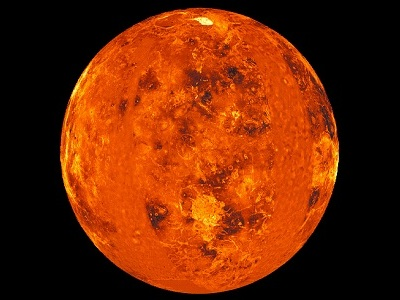 "Venus is the second planet from the Sun, and is Earth's closest neighbor in the <a href=""/our_solar_system/solar_system.html"">solar system</a>. Venus is the brightest object in the sky after the Sun and the Moon, and sometimes looks like a <a href=""/our_solar_system/solar_system.html"">bright star</a> in the morning or evening sky. The planet is slightly smaller than Earth, and its <a href=""/venus/interior.html"">interior</a> is similar to Earth. We can't see the <a href=""/venus/interior/V_global_geography.html"">surface</a> of Venus from Earth, because it is covered with thick clouds that strongly reflect sunlight.<p><small><em>Image courtesy of NASA/Magellan mission/JPL</em></small></p>"